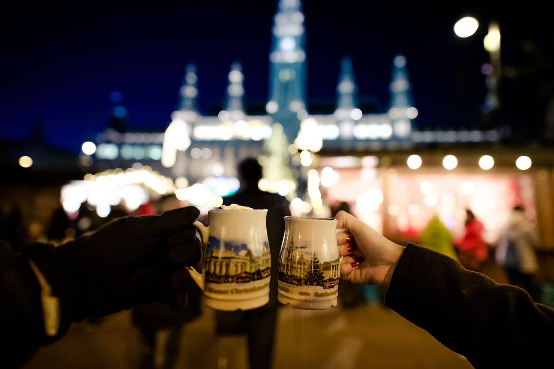 Drinking Gluhwein in Vienna